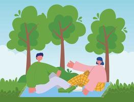 jovem casal curtindo o ar livre