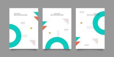 conjunto de capa de relatório corporativo de forma geométrica vetor
