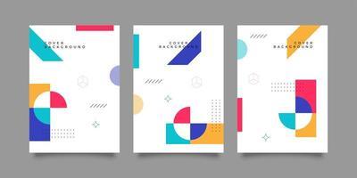 modelos de banner corporativo de formato moderno colorido editável vetor