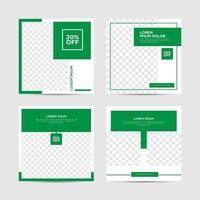 conjunto de postagens de mídia social tendências de design gráfico vetor