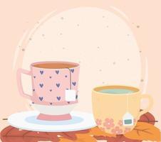 composição da hora do chá vetor