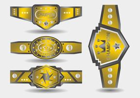 Campeonato de Ouro Belt vetor