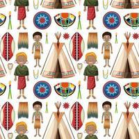 pessoas étnicas de padrão de tribos africanas vetor