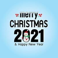 feliz natal e feliz ano novo 2021 vetor