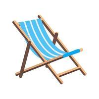 chaise longue de praia vetor