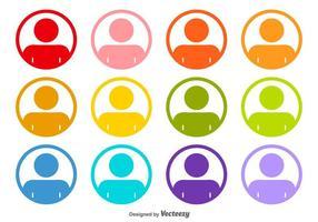 Headshot arredondados ícones do vetor