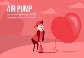 Background bomba de ar amor vetor