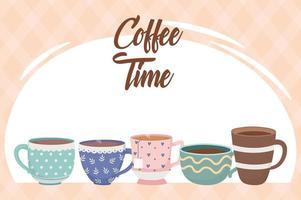 composição da hora do café vetor