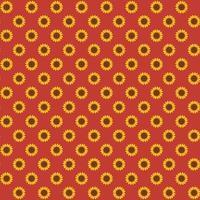 padrão de girassol outono sem costura