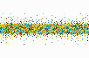 padrão de pixel colorido vetor