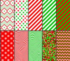 conjunto de padrões com tema de natal vetor