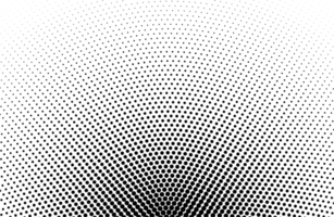 padrão de meio-tom redondo preto vetor