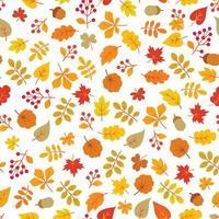 folhas de outono padrão sem emenda