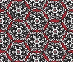 padrão floral oriental sem costura ornamento vetor