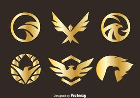 Golden Eagle Selo Vetores