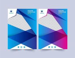 modelo de design de relatório anual de polígono gradiente moderno vetor