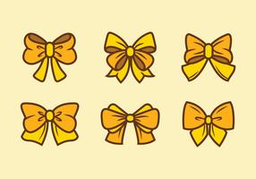 Amarelo fita de cabelo Vectors