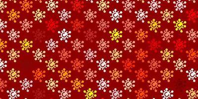 textura laranja clara com símbolos de doenças