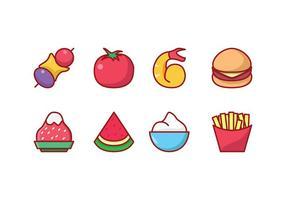 Alimento livre Icon Set