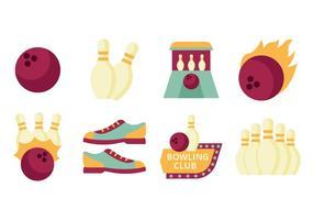 Vector livre Plano Bowling elemento de coleção