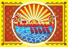 Poster Background Dragon Boat Festival vetor