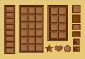 Barra de chocolate vetor