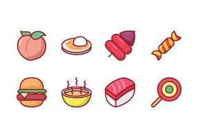 Alimento livre Icon Set vetor
