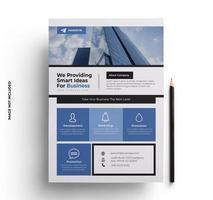 modelo de folheto de negócios azul e cinza vetor