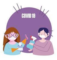 composição de prevenção covid-19 vetor