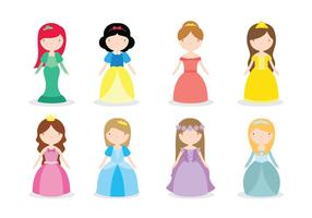 Vetores princesa da Disney