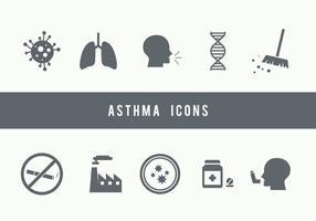 Ícones de asma vetor
