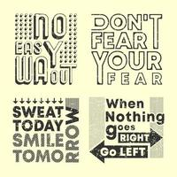 slogan da moda conjunto de carimbos com estampa de camiseta vetor