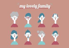 Minha amável família vetor