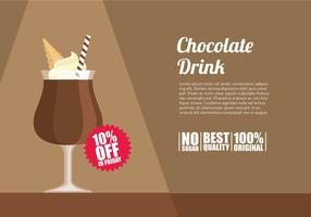Chocolate Template bebida Vector grátis