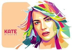 Kate Winslet Vector Popart Retrato