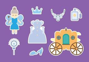 Vetor de ícones princesa