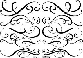 Divisores ornamentais Vector
