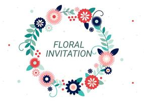 Free Flower Wreath Vector Tipografia