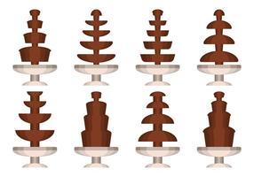 Fonte de Chocolate Colecção Vector