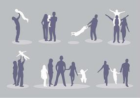 Família da silhueta Vector Icon Pack