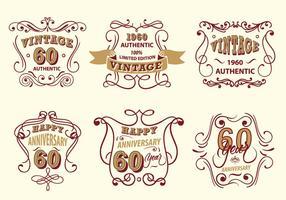Etiqueta Vintage Scrollwork Vector Pack