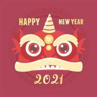 banner de celebração do ano novo chinês vetor