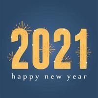 banner com letras feliz ano novo 2021
