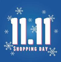 11 de novembro, banner do dia de compras vetor