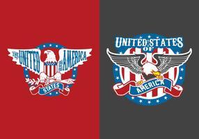 Elementos americanos da águia vetor