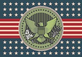 selo águia ilustração logo vector