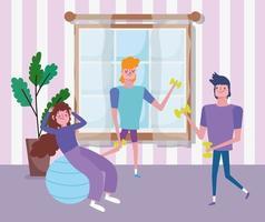 jovens trabalhando juntos dentro de casa