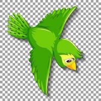 personagem de desenho animado de pássaro verde