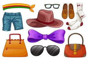 conjunto de acessórios de moda vetor
