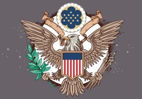 Grande selo do vetor Estados Unidos